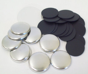 "1"" Tecre PLASTIC FLAT BACK Button Parts - 100-FREE SHIPPING"