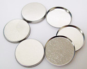 "1.5"" Tecre METAL FLAT BACKS ONLY - 1000-FREE SHIPPING"