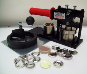 "Tecre Model #125 1.25"" Button Maker Machine, Fixed Rotary Cutter, 1000 Pin Back Button Parts-FREE SHIPPING"