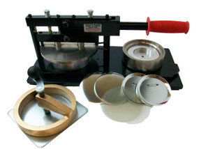 "4"" Tecre  Button Making Kit -Machine, Rotary Cutter and 100 pinback parts"
