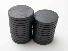 "250 JUST RIGHT FIT magnets only -ceramic magnets  1-1/8"" diam. x 1/8"" thick"