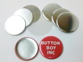 "2.25"" Tecre METAL FLAT BACK  Button Parts 2-1/4  Inch - 500 pcs-FREE SHIPPING"