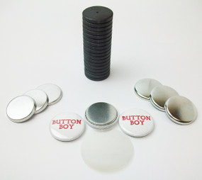 "1"" Tecre Metal Flat Back Magnet Button Parts w/JUST RIGHT FIT Ceramic Magnets 1000pcs. - FREE SHIPPING"