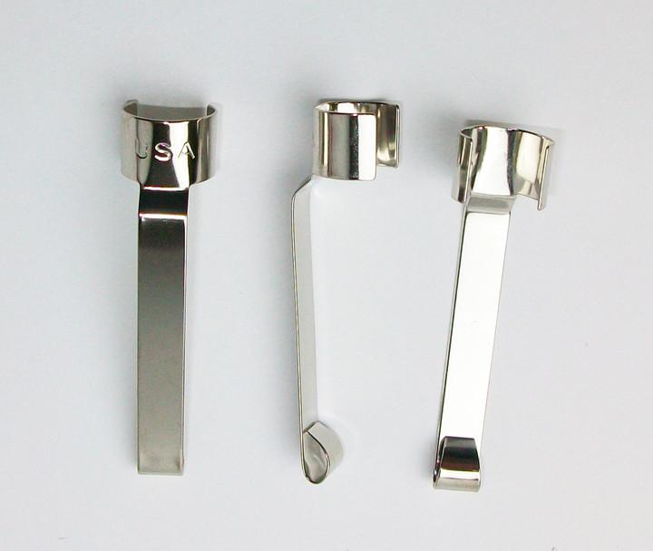 1000 Spring Steel Snap On Pen Pencil Pocket Clips Made
