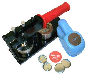 "1.50"" Tecre Button Making Kit - Machine, BB Punch, 250 Pin Back Button Parts 1-1/2 Inch-FREE SHIPPING"