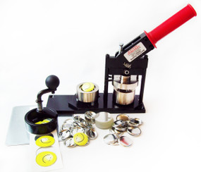 "1.25"" Tecre Button Making Kit  - Machine, Fixed Mini Rotary Circle Cutter, 500 Pin Back Button Parts-FREE SHIPPING"