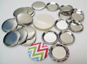 """1.50"""" Tecre INDENTED BACK Button Parts 1-1/2 Inch - 100 pcs FREE SHIPPING"""