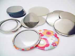 "2.25"" STD Tecre Mirror Button Parts 2-1/4 Inch - Makes 100 Pocket Cosmetic Mirrors-FREE SHIPPING"