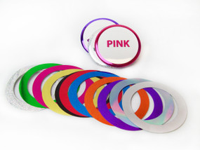 """BAM Size 2-3/8"""" (2-1/4"""") Mylar Accent Rings for Button Making Machines - 100 pcs"""