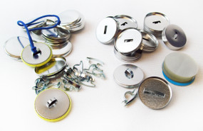 "1.25"" Tecre Pony Tail FLAT Back Button Parts 1-1/4 Inch - 100- FREE SHIPPING"