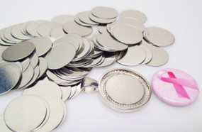 "Steel Metal Discs 3/4"" 19mm for use to make Magnetic Pendants - 100 discs"