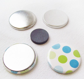 "1.25"" Magnet Flat Backs w/Beveled Perfect Fit Magnets-100pcs."