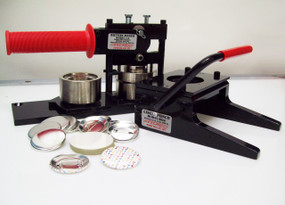 "1.75"" Tecre Button Making Kit 1-3/4 Inch  Machine + Graphic Punch + 1000 Pin Back Button Parts"