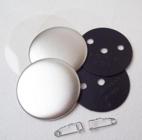 """2"""" Tecre Pin Back Button Parts 100 pcs"""