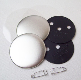 """2"""" Tecre Pin Back Button Parts 250 pcs"""