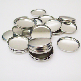 "Shells ONLY for 1 Inch ( 1"" ) Tecre Buttons - 100 pcs"