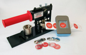 "1"" Tecre Button Making Kit  - Button Machine, Button Boy Double Level Hand Held Punch, 2000 Metal Flat Back Button Parts-FREE SHIPPING"