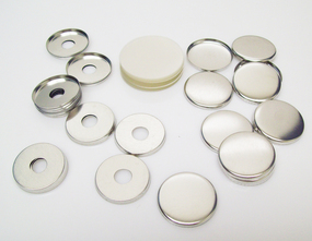"""1.25"""" Tecre Metal FLAT Back Button Parts WITH HOLE1-1/4 Inch - 2000-FREE SHIPPING"""