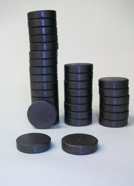 THICK 3/4 inch BEVELED EDGE C8 Stong Ceramic Magnets ONLY for 1 Inch Buttons - 250