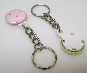 "1"" WHITE Versa Back  CHAIN Key Chain Parts 250 pcs.-FREE SHIPPING"