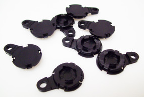"250 1"" Versaback Plastic Only - No Zipper Pull - Black-FREE SHIPPING"