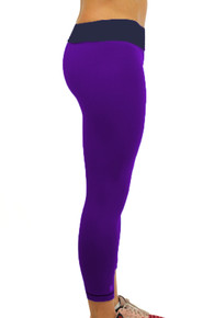 BE YOUR BEST Purple/Navy REVERSIBLE Leggings