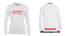 'STIRLING SPORTS' White Long Sleeve T Shirt Camp Range 2016 - 2017