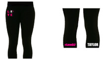 'LOVE GLF' Black Leggings (Single Colour)