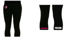 'Girls Love Fit' Black Leggings (Single Colour)