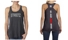 'EAT. SLEEP. CHEER. REPEAT.' Grey Tank