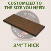 "3/4"" Dark Brown High Temp Cutting Board"