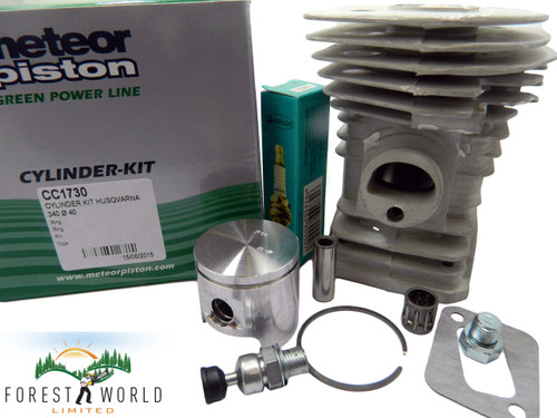 Husqvarna 340 chainsaw cylinder kit,40 mm,Made in Italy by METEOR,OEM quality