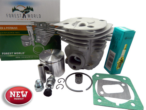 HUSQVARNA 346xp,350,351,353 cylinder kit,45 mm,NiSiC coated,by FOREST WORLD