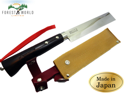 Japanese Gardeners Flower Hatchet Cutting Tool Stainless Steel Oak handle 165 mm