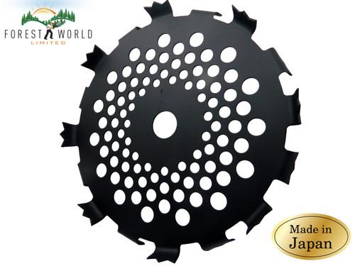 Japanese strimmer grass cutter Ivy shreeder blade disc,230 x1,6x 25,4 x 16 teeth