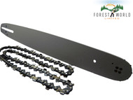 "18"" Guide Bar & Chain For HUSQVARNA 55,E1400,E1600,E1800,EL16,136 325'' .050''"