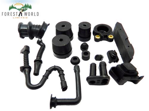 STIHL 044,MS 440 chainsaw hose,buffer,manifold,line,tube,plug,full rebuild kit