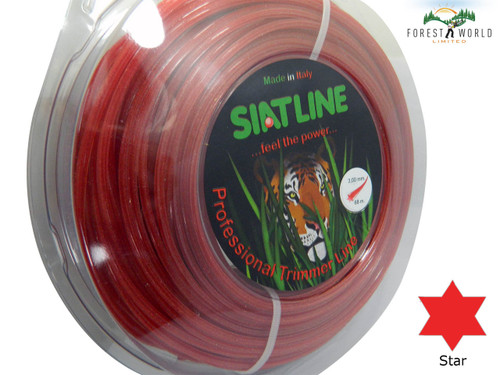 SIAT Heavy Duty Professional ALU Strimmer line,3 mm,STAR shaped,MADE IN ITALY
