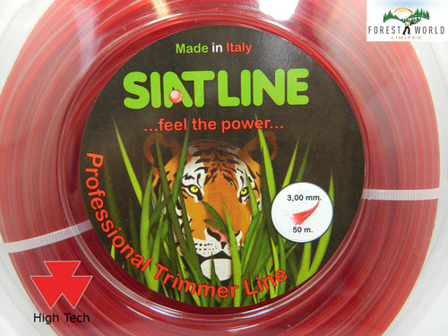 SIAT Professional NEW FORMULA Strimmer line cord,3 mm,HI TECH,MADE IN ITALY