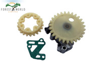 Oil pump with worm gear & spur wheel & gasket For STIHL 038 MS 380