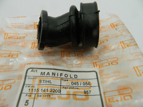 Fuel inlet intake manifold for Stihl 045/056 chainsaw,replaces 1115 141 2200 Quality aftermarket spare parts,made in Europe