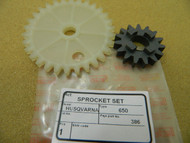 Husqvarna 65 L, 650 worm gear & oil pump spur wheel,new Quality aftermarket spare parts,made in Europe