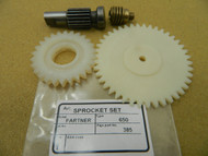 Partner 650 chainsaw worm gear & oil pump spur wheel,new Quality aftermarket spare parts,made in Europe