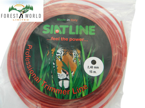 SIAT Heavy Duty Professional ALU Strimmer line, 15 m,2,4 mm,ROUND