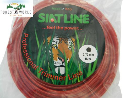 SIAT Heavy Duty Professional ALU Strimmer line, 15 m,2,7 mm,ROUND