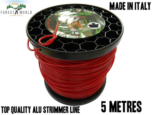 SIAT Heavy Duty Professional ALU Strimmer line wire,2,4 mm, SQUARE,5 METRES