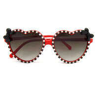 Retro Black and Red Heart Sunglasses with bows by Juicy Lucy