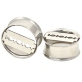 "Double Flared Steel Razor Blade Tunnels (2g-13/16"")"