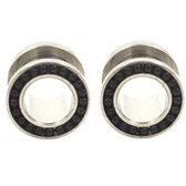 "Black Steel Chain Balls Rim Ear Tunnel Plugs (8g-3/4"")"