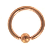 Rose Gold Plated Captive Bead Ring CBR 14G (3 Sizes)